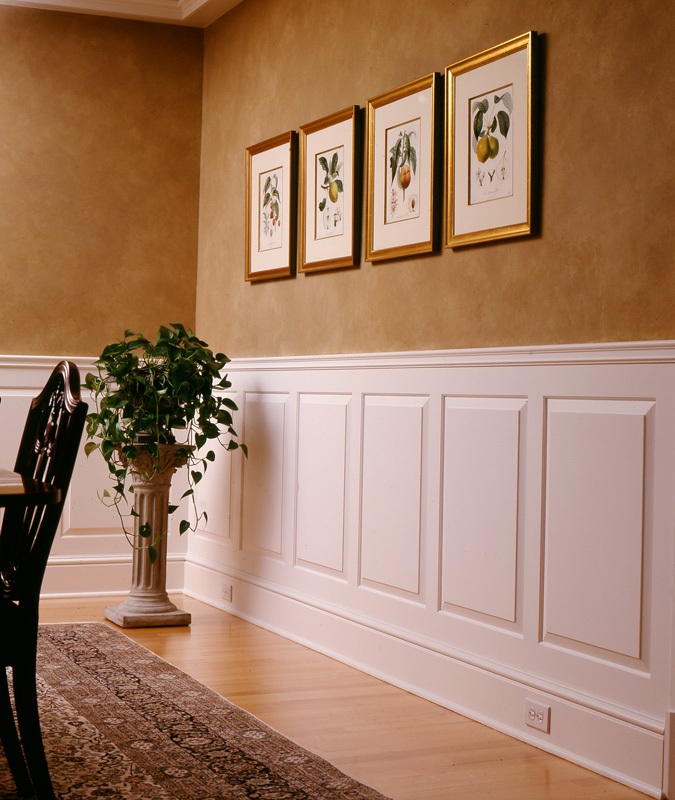 Raised and recessed panel wainscoting wainscot solutions for Dining room wainscoting