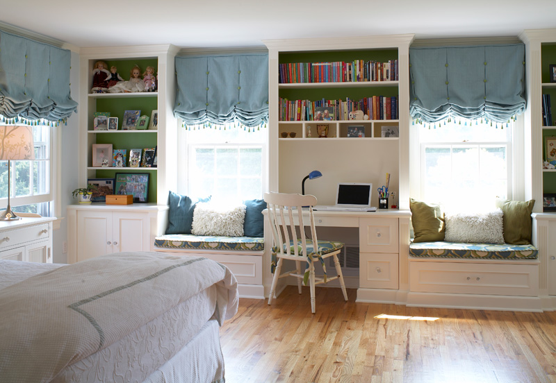 Built in cabinetry for Window design solutions