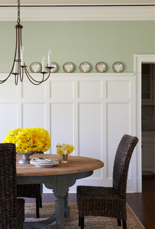 Verdi style wainscoting wainscot solutions inc for Dining room paneling ideas