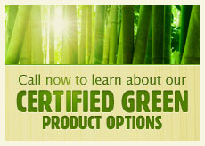 Certified Green product options