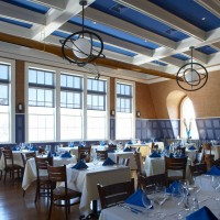 restaurant with wainscoting