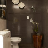 restroom with wainscoting