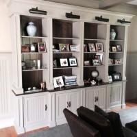 custom white built in cabinets