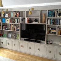 custom Living Room TV Console Built In Cabinets