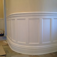 custom wainscoting entryway unfinished