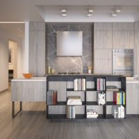 kitchen with wainscoting