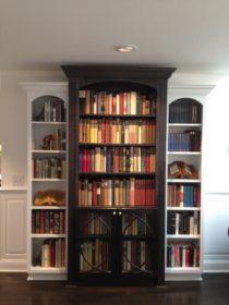 custom black and white bookshelf