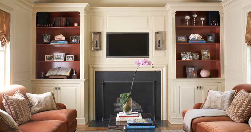 fireplace mantel wainscoting
