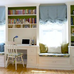 Built-Ins Window Seat and Desk