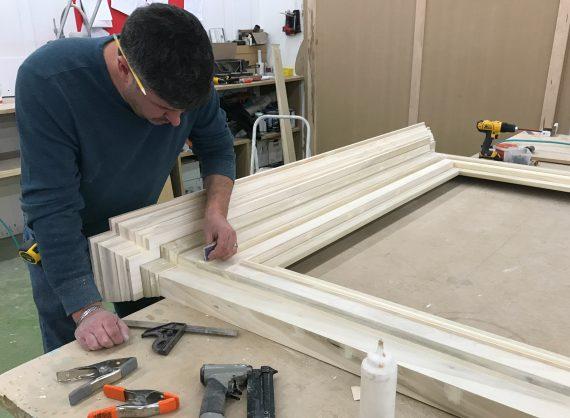 finishing a fireplace mantel