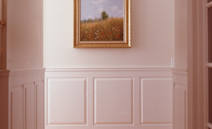Authentic wainscoting quality over faux wainscoting quality concept photo